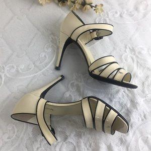 Prada Shoes - Prada Patent Leather Cream Black Maryjane Heels